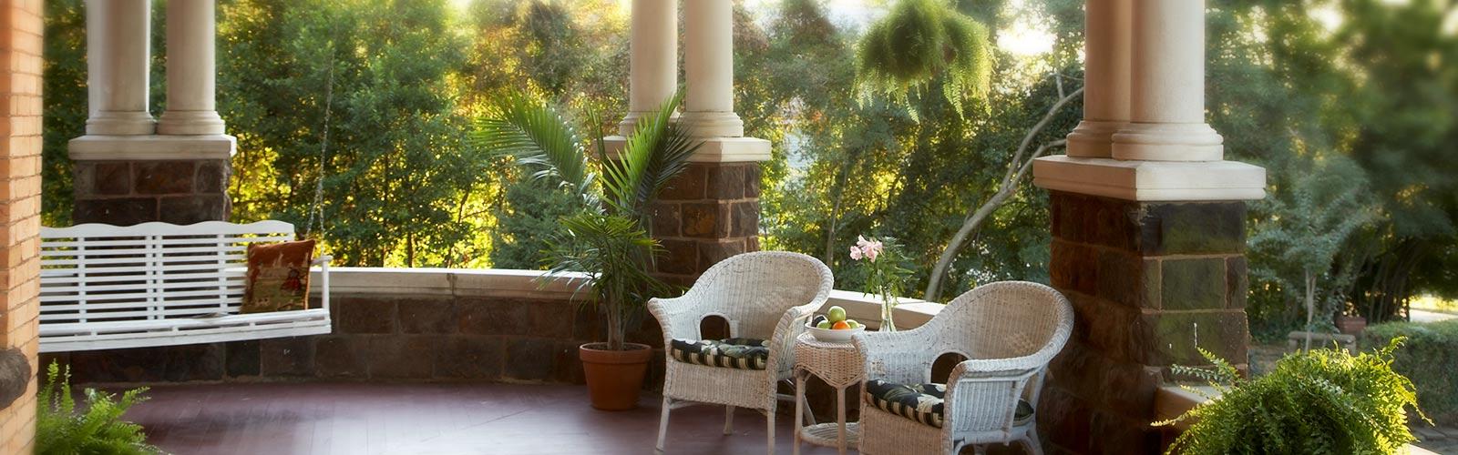 inn porch seating